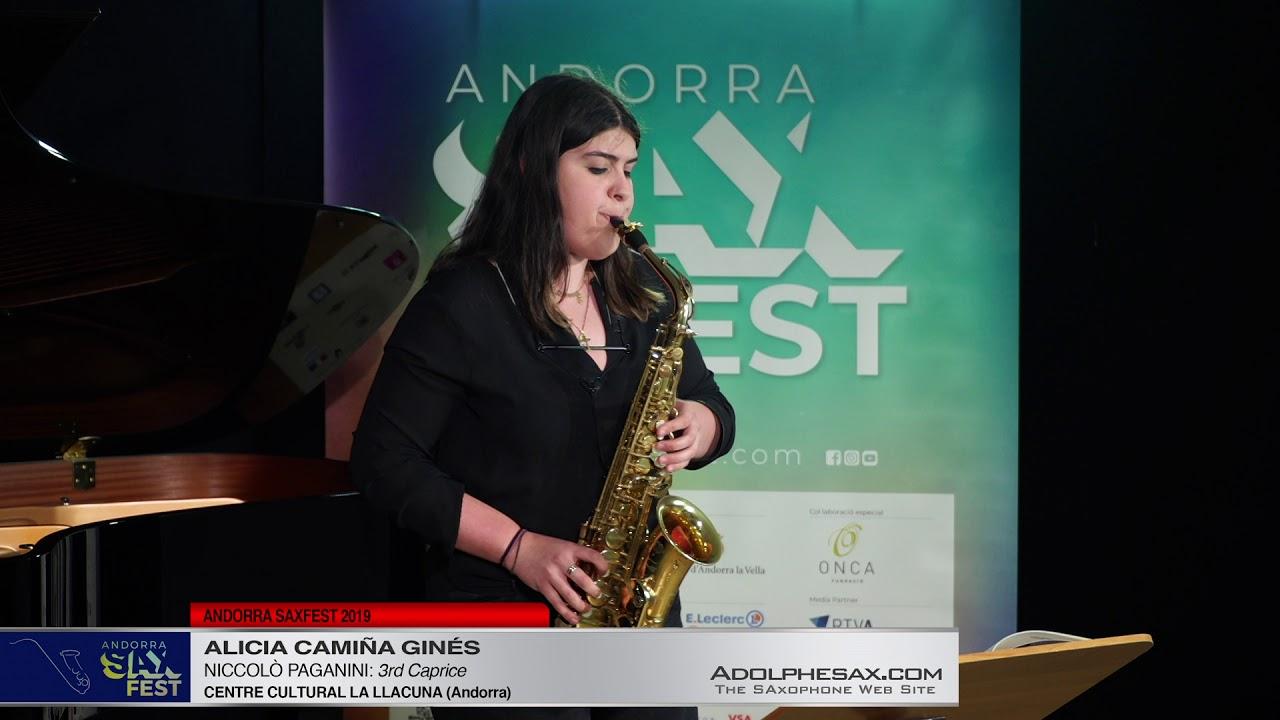 Andorra SaxFest 2019 1st Round   Alicia Camiña Ginés   3rd Caprice by Niccolo Paganini