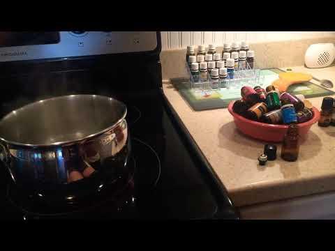 Reusing empty essential oil bottles