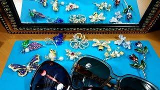 Обзор 73. Бижутерия aliexpress,Недорогие цирконистые броши,Солнцезащитные очки с поляризацией MIZHO