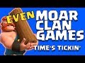 Smashing some CLAN GAMES!  Let's go!  Multiple Account Farming! - Clash of Clans