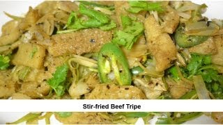 Stir-fried Beef Tripe