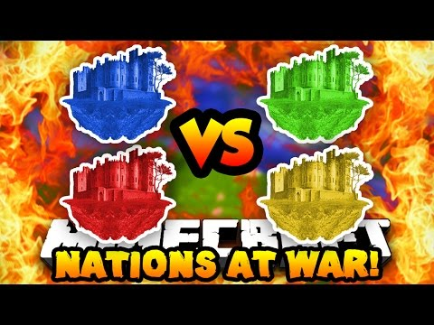 Minecraft NATIONS AT WAR! (New Map, Conquer Enemy Capitals & Fight!) #2 | w/ Preston & Vikkstar123