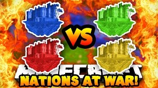 Minecraft NATIONS AT WAR! (New Map, Conquer Enemy Capitals & Fight!) #2 | w/ Preston & Vikkstar123