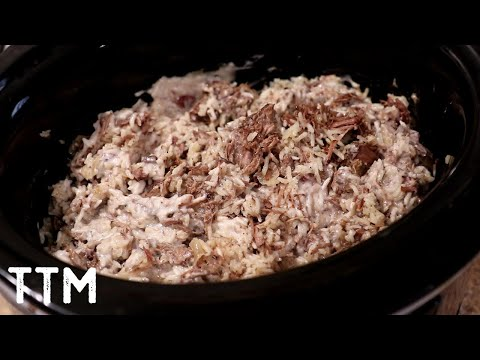 easy-slow-cooker-shredded-beef-and-rice-recipe
