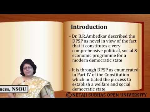 Directive Principles of State Policy: Representing the Social and Economic Rights part 1
