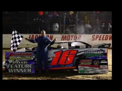 #16 Micah Gavin wins Kajun MS feature at Jackson Motor Speedway 06-25-2016