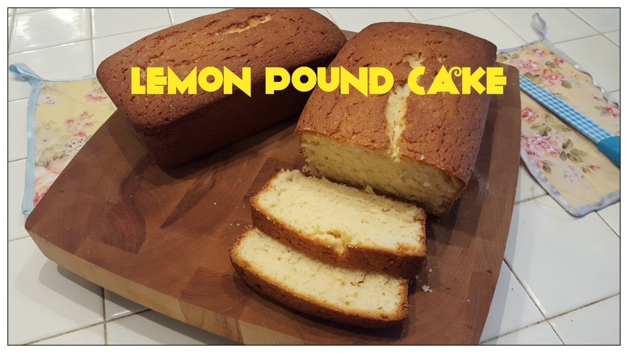 Tricia S Creations Lemon Pound Cake Youtube