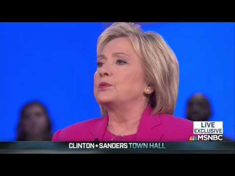 Hillary Clinton Pressed On Here Shifting Position On Immigration During Dem. Town Hall
