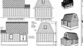 #g455 Gambrel 16 X 20 Shed Plan