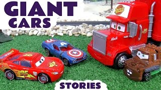 Giant Cars and Avengers Thomas and Friends Play Doh Racing Toy Story Compilation with Batman