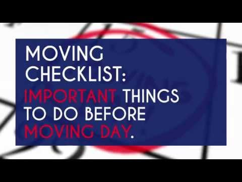 moving checklist important things to do before moving youtube. Black Bedroom Furniture Sets. Home Design Ideas