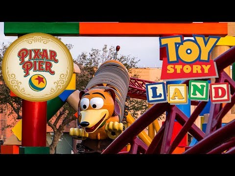 Behind The Scenes! Toy Story Land & Pixar Pier Disney Attractions! Walt Disney World Disneyland