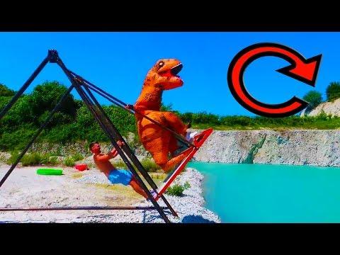 Riesen SCHAUKEL | T-Rex BACKLFLIP | Splashdiving | Max Moreno