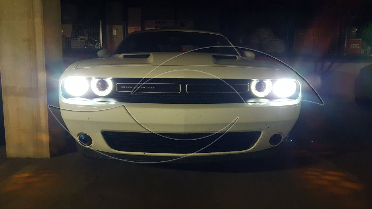 diy 2015 2016 dodge challenger hid headlight kit installation enlight [ 1280 x 720 Pixel ]