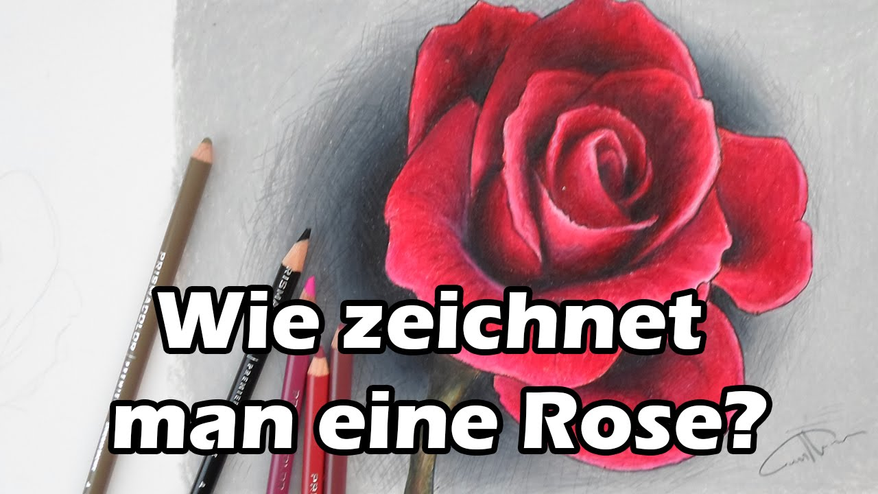 wie zeichnet man eine rose how to draw a rose step by step art tutorial youtube. Black Bedroom Furniture Sets. Home Design Ideas
