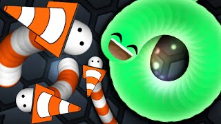 Slither.io Trolling With Secret Cone Skin Hack? Immortal Snake!(Slitherio Funny Moments)