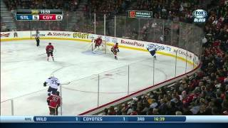 Vladimir Tarasenko epic one timer PPG 5-0 St. Louis Blues vs Calgary Flames 1/9/14 NHL Hockey