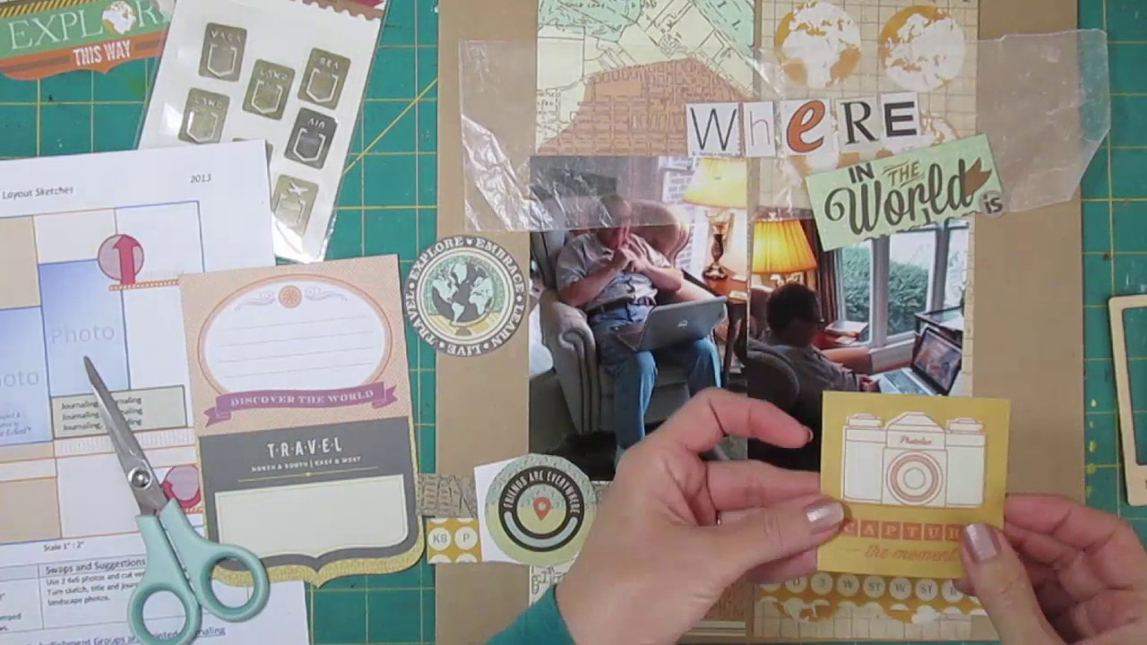 Scrapbook paper england theme - Scrapbooking Process Using Travel Theme For At Home Event