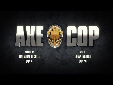 Random Movie Pick - AXE COP - Origins Trailer YouTube Trailer