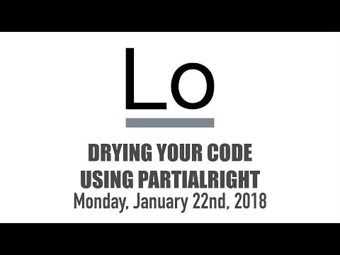 DRYing Your Code Using partialRight