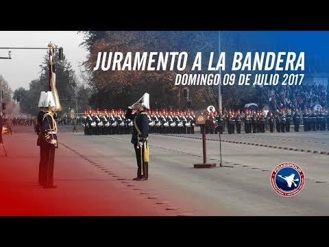 Juramento a la Bandera 200 años y Desfile de honor, Santiago 09.07.2017 HD