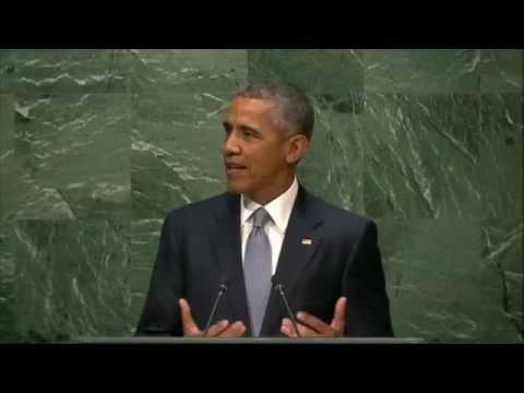 Barack Obama speaks on Ukraine at the General Assembly of UN, 28 Sept 2015.