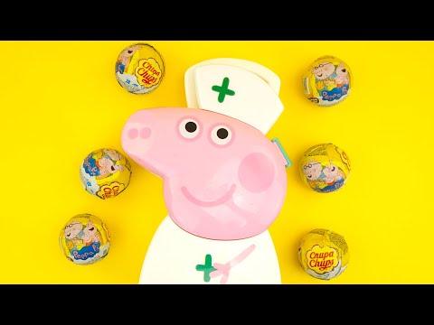 Свинка Пеппа игрушки, сюрпризы. Играем и веселимся