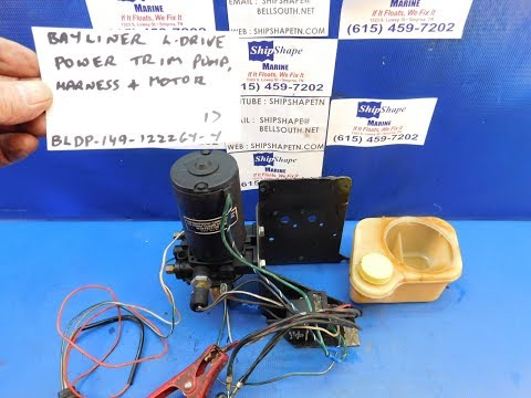 FOR SALE - Bayliner L-Drive Power Trim Pump and Harness $149.95