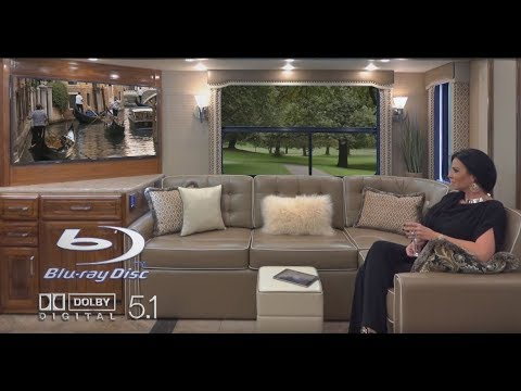 New foretravel realm lvms luxury villa master suite at for Rv with 2 master bedrooms