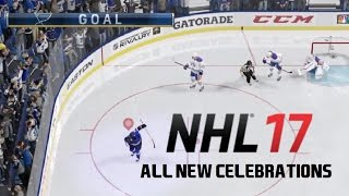 NHL 17 All 40 New Celebrations (In Game)