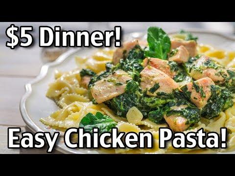 Five Dollar Dinners - Easy Chicken Pasta!