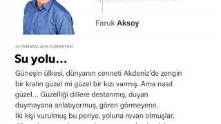 Faruk Aksoy - Su yolu… - 20.07.2019