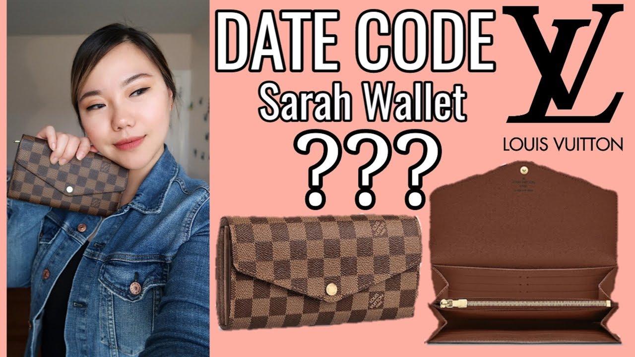 11eaf113578 LV Sarah Wallet   Date Code?! - YouTube