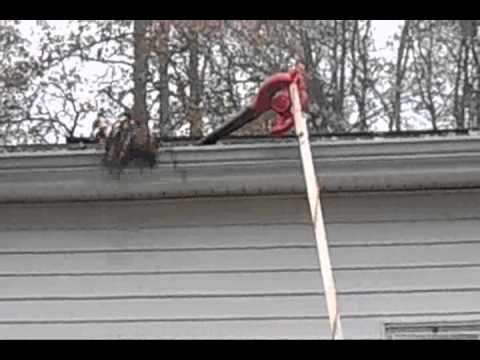 How To Clean A Gutter Without A Ladder Youtube