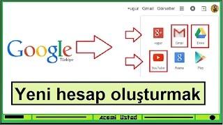 gmail e-posta almak ve Google Hesabı açmak (Tüm Detaylarıyla) + google+ Profili