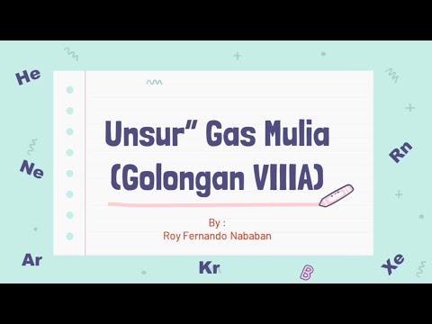 Unsur-Unsur Gas Mulia (Golongan VIIIA)