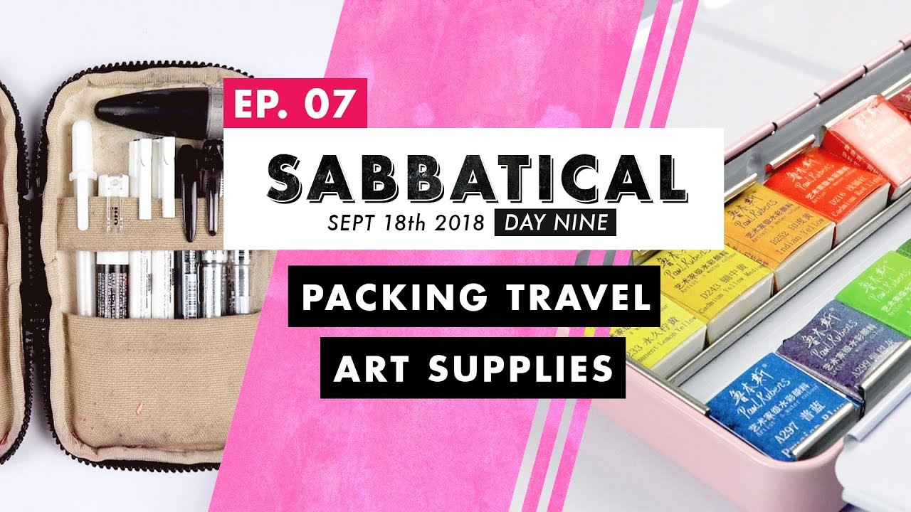 Travel Art Supplies + Paul Ruben Watercolor Palette Swatches