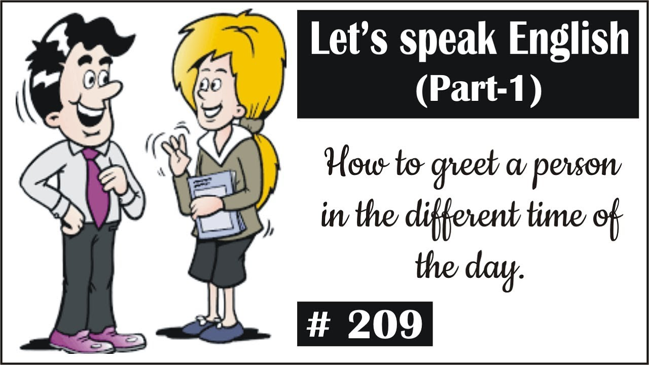 Spoken English Part 1 I Speak English Easily I How To Greet A