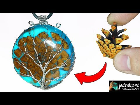 Pine Cone Pendant in Epoxy Resin / Resin Art / Part 1