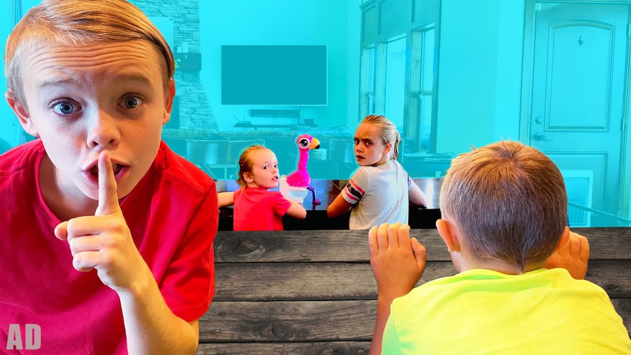 Spying on Jazzy's Secret Funny Toy!  Kids Fun TV