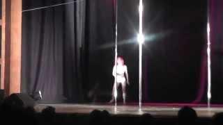 Edinburgh pole dancing competition solo dance breathe me sia