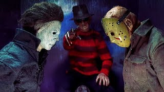 THE HORROR TRINITY. MICHAEL MYERS  - FREDDY KRUEGER - JASON VOORHEES