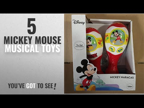 Top 10 Mickey Mouse Musical Toys [2018]: Disney Mickey Mouse Sing Along Battery Operated Maracas