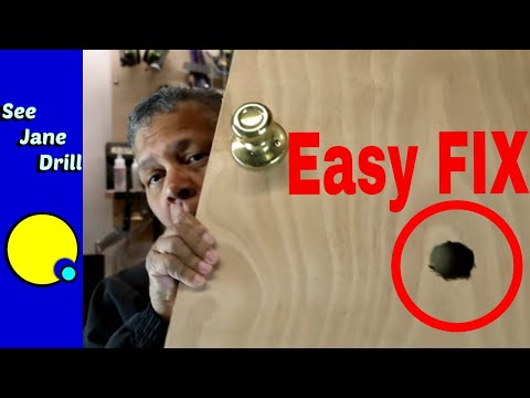 SUPER EASY Repair a HOLE in a HOLLOW CORE DOOR