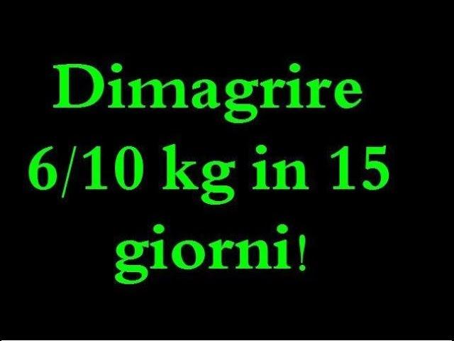 dieta 6 kg in 10 giorni