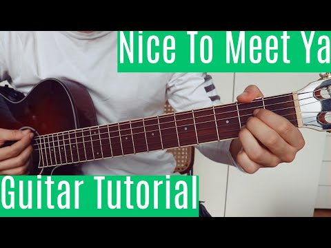 Nice To Meet Ya - Niall Horan   Guitar Tutorial/Lesson   Easy How To Play (Chords)