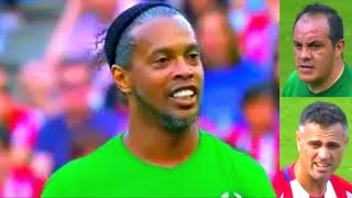 Atletico Madrid vs world legends  RONALDINHO  Atletico Madrid vs Leyendas del futbol