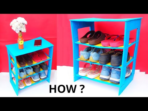 DIY : How to make Shoe Rack at Home | Best out of waste | Space saving craft ideas