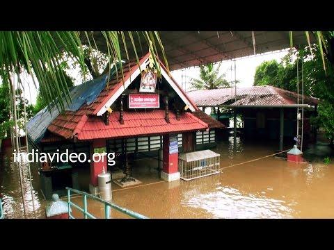 Chamravattom Bridge and the flooded Sastha temple