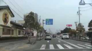 【車載動画】 JR松阪駅→豊郷小学校旧校舎群 (2014.3.18)